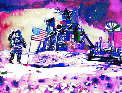 On The Moon Poster by Fabrizio Cassetta