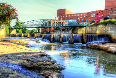 On The Reedy River In Greenville Poster