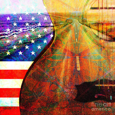 Poster featuring the photograph On The Road Again 20140716 Square by Wingsdomain Art and Photography