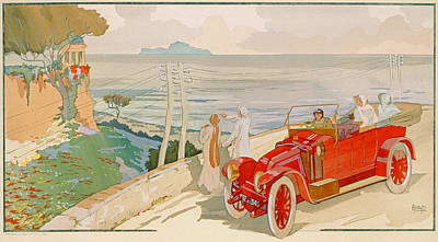 On The Road To Naples Poster by Aldelmo