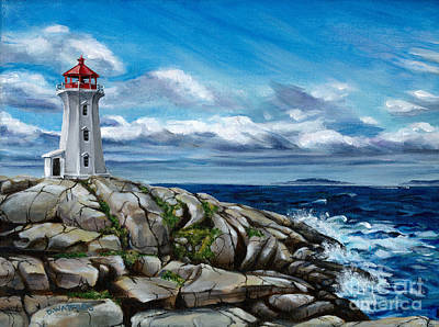 On The Rocks Peggy's Cove Poster by Darlene Watters