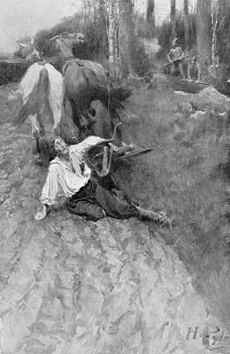 On The Warpath, Illustration From Colonies And Nations By Woodrow Wilson, Pub. In Harpers Magazine Poster by Howard Pyle