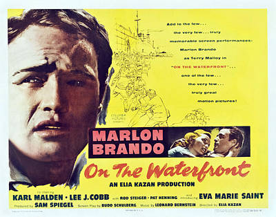On The Waterfront, Left Marlon Brando Poster by Everett