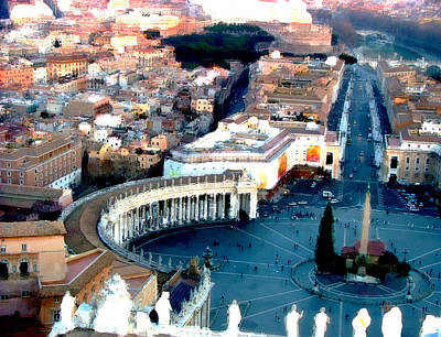 Poster featuring the digital art On Top Of Vatican 1 by Brian Reaves