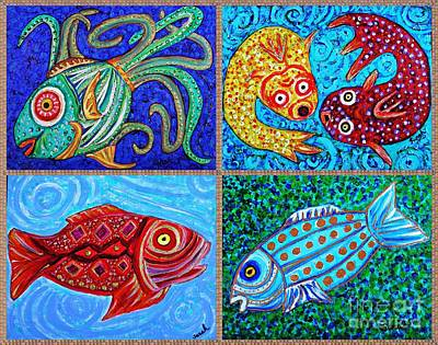 One Fish Two Fish Poster by Sarah Loft