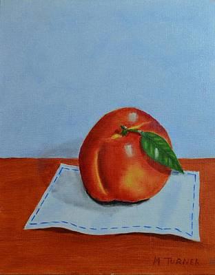 One Leaf Peach Poster