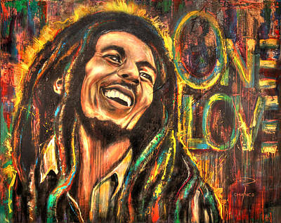 Bob Marley - One Love Poster by Robyn Chance