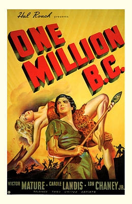 One Million Bc 1940 Poster