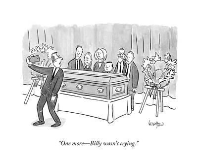 One More - Billy Wasn't Crying Poster by Robert Leighton