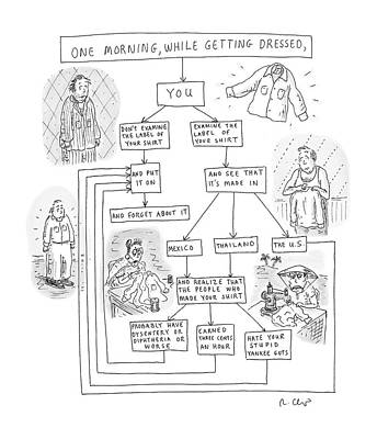 One Morning While Getting Dressed Poster by Roz Chast