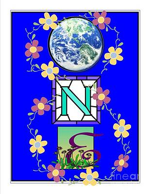 Poster featuring the digital art Universal One-ness by Bobbee Rickard