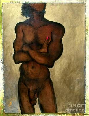 Poster featuring the painting One Of The Three Wise Men - Male Nude by Carolyn Weltman