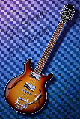 Poster featuring the digital art One Passion by WB Johnston