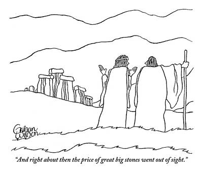 One Shepherd To Another As They Pass Stonehenge Poster