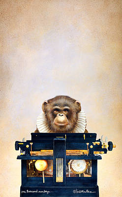 One Thousand Monkeys Poster by Will Bullas