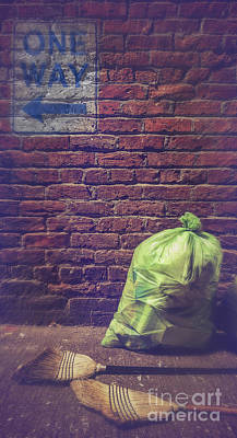 One Way Cleaning Poster by Danilo Piccioni