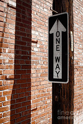 One Way Poster by Lawrence Burry