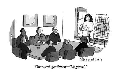 One Word, Gentlemen - 'ungowa!' Poster