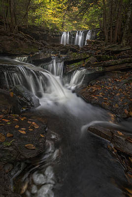 Poster featuring the photograph Oneida Falls by Roman Kurywczak