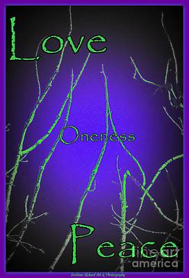 Oneness Glow Poster by Bobbee Rickard