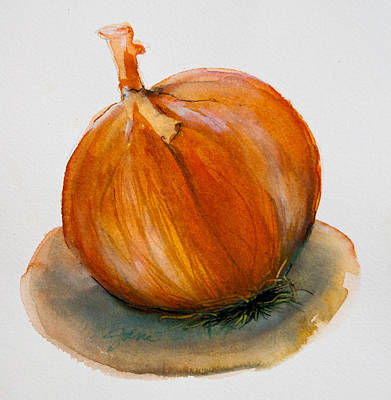 Poster featuring the painting Onion Study by Jani Freimann
