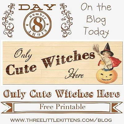Only Cute Witches Here #ontheblog Poster
