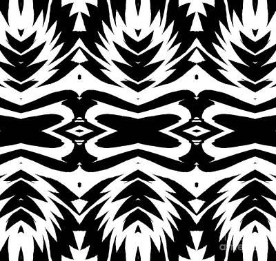 Pattern Black White No.232. Poster