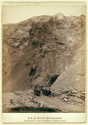 Open Cut In The Great Homestake Mine, At Lead City Poster by Litz Collection