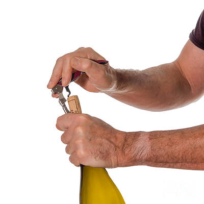 Opening A Bottle Of Wine Poster