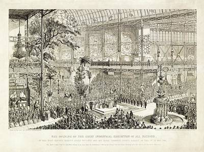 Opening Of The Great Exhibition Of 1851 Poster by Library Of Congress
