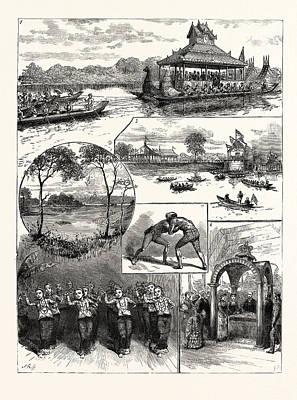 Opening Of The Kokaing Water Works Rangoon 1 Poster
