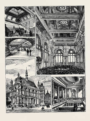 Opening Of The New Buildings For The City Of London School Poster by English School