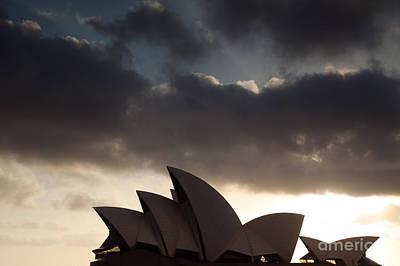 Opera House At Sunrise Sydney Poster by Matteo Colombo