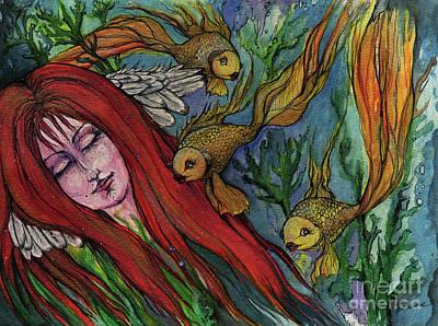 Ophelia Poster by Angel  Tarantella