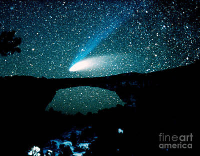 Optical Image Of Hale-bopp Comet Poster by John Chumack