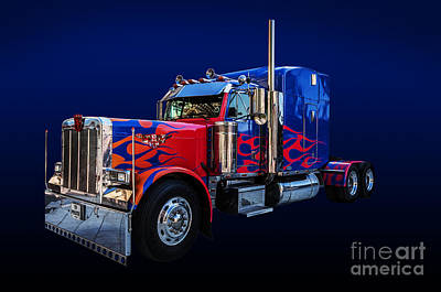 Optimus Prime Blue Poster by Steve Purnell