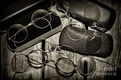 Optometrist - Vintage Eyeware Black And White Poster