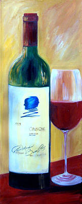Poster featuring the painting Opus One  by Sheri  Chakamian