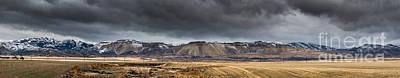 Oquirrh Mountains Winter Storm Panorama - Utah Poster by Gary Whitton
