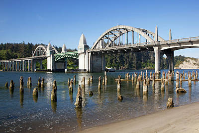 Or, Florence, Siuslaw River Bridge Poster