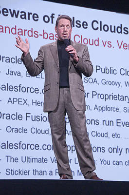 Oracle Ceo Larry Ellison Warns Of False Clouds Poster