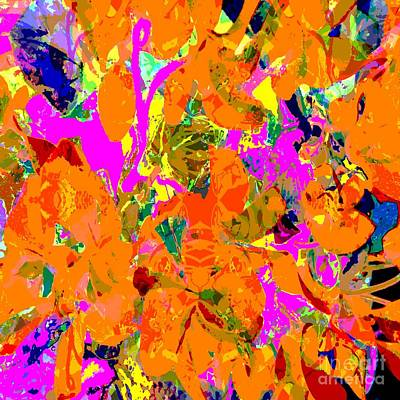 Poster featuring the digital art Orange Abstract by Barbara Moignard