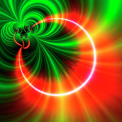 Orange And Green Patterns Poster by Mehau Kulyk