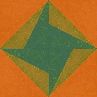 Orange And Green Pinwheel Poster