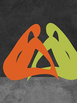 Orange And Green Women Poster