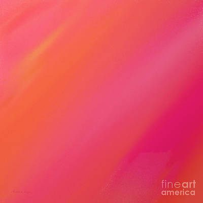 Orange And Raspberry Sorbet Abstract 2 Poster