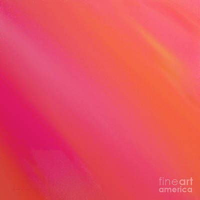 Orange And Raspberry Sorbet Abstract 3 Poster