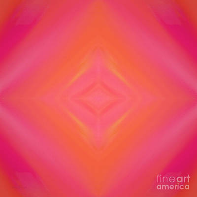 Orange And Raspberry Sorbet Abstract 4 Poster by Andee Design