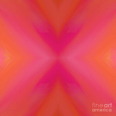 Orange And Raspberry Sorbet Abstract 6 Poster