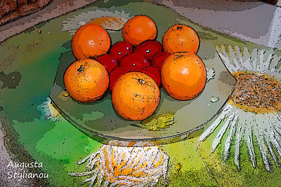 Orange Beauty Poster by Augusta Stylianou